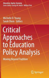 Omslag - Critical Approaches to Education Policy Analysis 2017