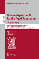 Omslag - Human Aspects of it for the Aged Population. Design for Aging 2016: Part I