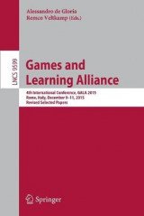 Omslag - Games and Learning Alliance 2016