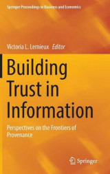Omslag - Building Trust in Information 2016