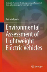 Omslag - Environmental Assessment of Lightweight Electric Vehicles 2016