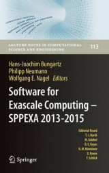 Omslag - Software for Exascale Computing - SPPEXA 2013-2015 2016