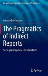 Omslag - The Pragmatics of Indirect Reports 2016