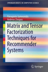 Omslag - Matrix and Tensor Factorization Techniques for Recommender Systems 2016