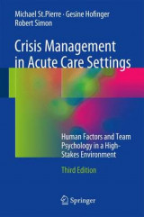 Omslag - Crisis Management in Acute Care Settings 2017