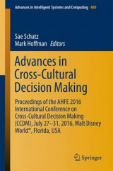 Omslag - Advances in Cross-Cultural Decision Making 2016