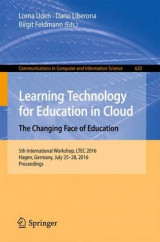 Omslag - Learning Technology for Education in Cloud - The Changing Face of Education 2016