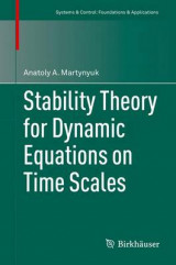 Omslag - Stability Theory for Dynamic Equations on Time Scales