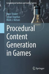 Omslag - Procedural Content Generation in Games 2016