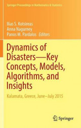Omslag - Dynamics of Disasters-Key Concepts, Models, Algorithms, and Insights