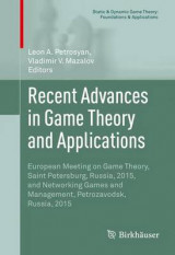 Omslag - Recent Advances in Game Theory and Applications