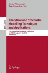 Omslag - Analytical and Stochastic Modelling Techniques and Applications