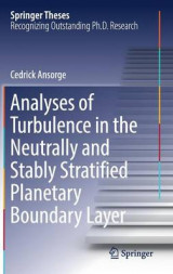 Omslag - Analyses of Turbulence in the Neutrally and Stably Stratified Planetary Boundary Layer