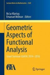 Omslag - Geometric Aspects of Functional Analysis 2016