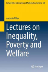 Omslag - Lectures on Inequality, Poverty and Welfare 2017