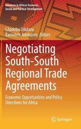 Omslag - Negotiating South-South Regional Trade Agreements 2017