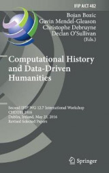 Omslag - Computational History and Data-Driven Humanities