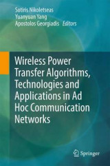 Omslag - Wireless Power Transfer Algorithms, Technologies and Applications in Ad Hoc Communication Networks 2017