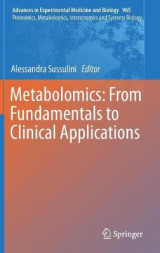 Omslag - Metabolomics: From Fundamentals to Clinical Applications 2016