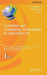 Omslag - Computer and Computing Technologies in Agriculture 2016: Part 1, No. 9