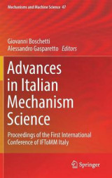 Omslag - Advances in Italian Mechanism Science
