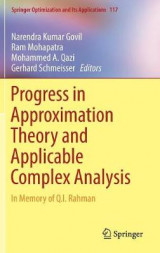 Omslag - Progress in Approximation Theory and Applicable Complex Analysis