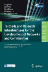 Omslag - Testbeds and Research Infrastructures for the Development of Networks and Communities