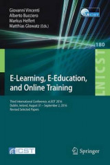 Omslag - E-Learning, E-Education, and Online Training