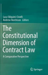 Omslag - The Constitutional Dimension of Contract Law
