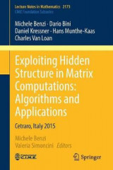 Omslag - Exploiting Hidden Structure in Matrix Computations: Algorithms and Applications 2016