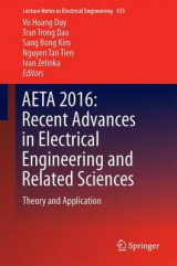 Omslag - Aeta 2016: Recent Advances in Electrical Engineering and Related Sciences