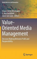 Omslag - Value-Oriented Media Management