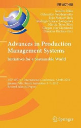 Omslag - Advances in Production Management Systems. Initiatives for a Sustainable World 2016