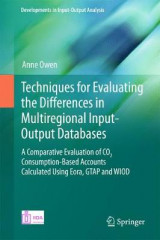 Omslag - Techniques for Evaluating the Differences in Multiregional Input-Output Databases