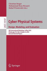 Omslag - Cyber Physical Systems. Design, Modeling, and Evaluation