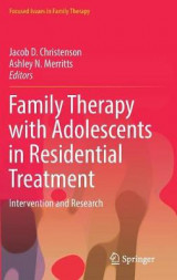 Omslag - Family Therapy with Adolescents in Residential Treatment