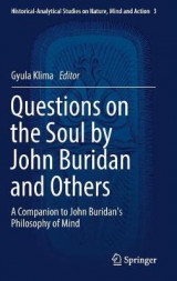 Omslag - Questions on the Soul by John Buridan and Others 2017