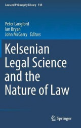 Omslag - Kelsenian Legal Science and the Nature of Law