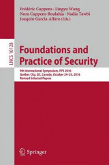 Omslag - Foundations and Practice of Security