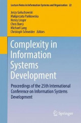 Omslag - Complexity in Information Systems Development