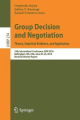 Omslag - Group Decision and Negotiation. Theory, Empirical Evidence, and Application 2017