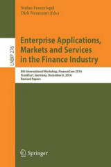 Omslag - Enterprise Applications, Markets and Services in the Finance Industry 2017