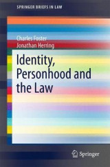 Omslag - Identity, Personhood and the Law 2017