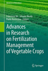 Omslag - Advances in Research on Fertilization Management of Vegetable Crops