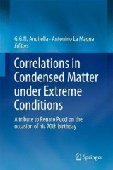 Omslag - Correlations in Condensed Matter Under Extreme Conditions