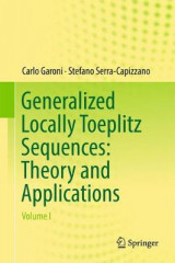 Omslag - Generalized Locally Toeplitz Sequences: Theory and Applications