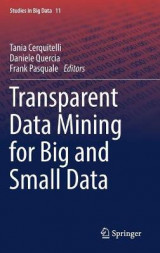 Omslag - Transparent Data Mining for Big and Small Data 2017