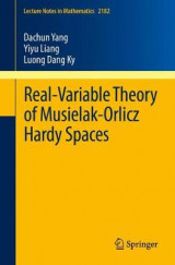 Omslag - Real-Variable Theory of Musielak-Orlicz Hardy Spaces 2017