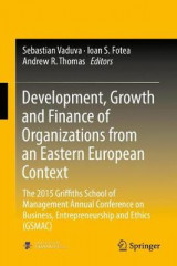Omslag - Development, Growth and Finance of Organizations from an Eastern European Context 2017