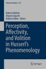 Omslag - Perception, Affectivity, and Volition in Husserl's Phenomenology 2017